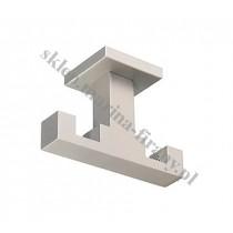 Wspornik podwójny sufitowy Kwadro efekt stali