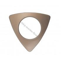 Przelotka TRIO duża rdza mat - średnica wewnętrzna 35 mm - 10 szt