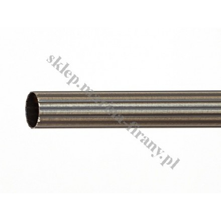 Drążek ryflowany Gral fi 16 patyna - 140cm