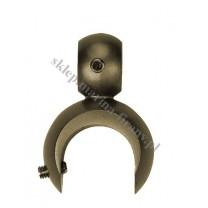 Uchwyt na dodatkową rurę fi 16 mm dla wspornika otwartego - kolor patyna