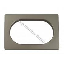 Przelotka uniwersalna PROSTOKĄT duża - kolor platyna mat - wymiary wewnętrzne 60 * 35 mm - 10 szt