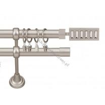 Karnisz Gral fi 19 mm, podwójny, kolor chrom mati - Escala (G190033)