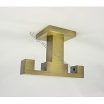 Wspornik podwójny sufitowy Kwadro złoto antyczne
