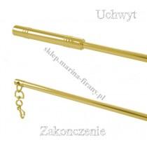 Metalowy patyk do przesuwania firan - kolor mosiądz 100 cm
