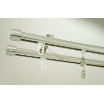 Szyna sufitowa Techno 20 podwójna, inox (SUW0043) - stal nierdz. - aluminium