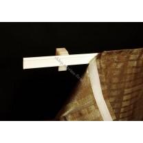 Listwa sztywna z rzepem do ekranów - paneli firanowych, mocowanie ścienne