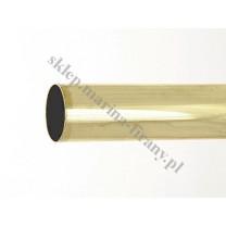 Drążek gładki Gral fi 25 mosiądz - 160cm