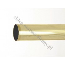 Drążek gładki Gral fi 25 mosiądz - 180cm