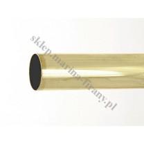 Drążek Gral gładki fi 16 mosiądz - 200cm