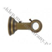 Wspornik pojedynczy przelotowy Classic 20 mm - antico (mosiądz)