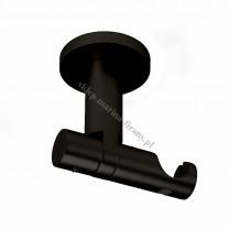 Wspornik Gral fi 19 czarny matowy - pojedynczy uniwersalny sufitowy rura/profil