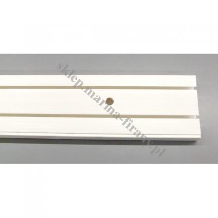 Szyna sufitowa dwutorowa biała - 250 cm
