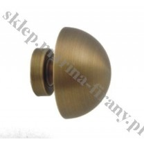 Końcówka do profila/ rury 20 mm Półkula średnia - antico (mosiądz) - 1 szt