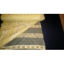 Organtyna kreszowana w kolorze miodowym - pasy. szer. 290 cm , cena za 1 mb - wyprzedaż