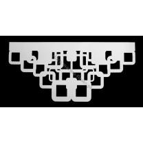 Ażur do firan wzór AZ34 Kwadraty strukturalne