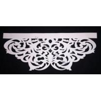 Ażur do firan, wzór AZ01 Gobelin, szer. 70 cm, biały, czterowarstwowy - odrzut nr 9