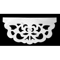 Ażur do firan, wzór AZ01 Gobelin, szer. 70 cm, jasno szary, czterowarstwowy - odrzut nr 2