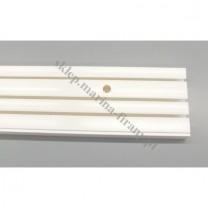 Szyna sufitowa trzytorowa biała - 150 cm