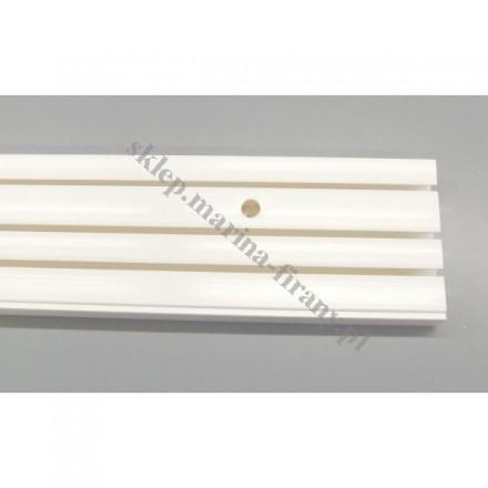 Szyna sufitowa trzytorowa biała - 210 cm