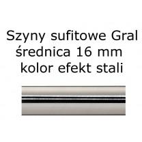 Elementy do szyn sufitowych Gral 16 mm kolor efekt stali