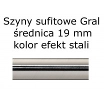 Elementy do szyn sufitowych Gral 19 mm kolor efekt stali
