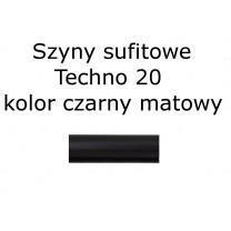 Elementy do szyn sufitowych Techno 20 kolor czarny mat