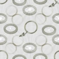 Kółka, haczyki fi 16 mm w kolorze efekt stali