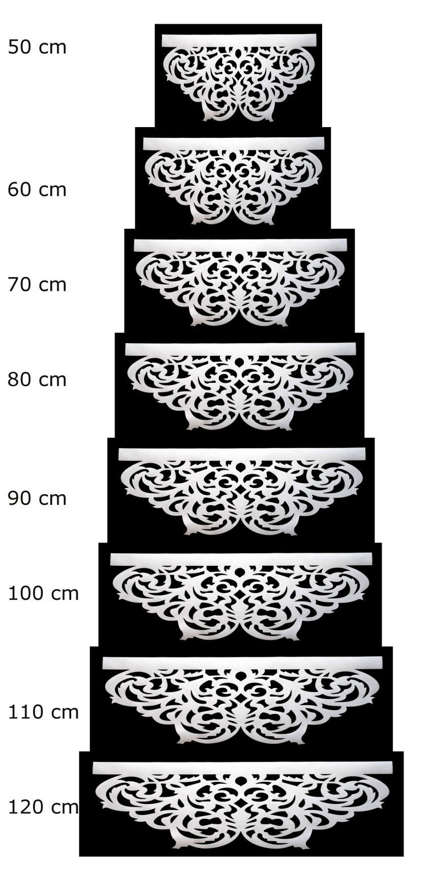 wygląd ażurów w różnych szerokościach