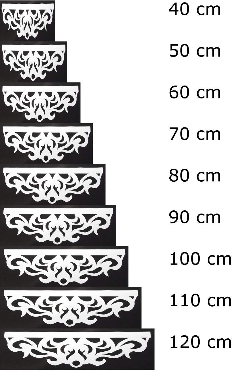 wygląd ażuru Royal w różnych szerokościach