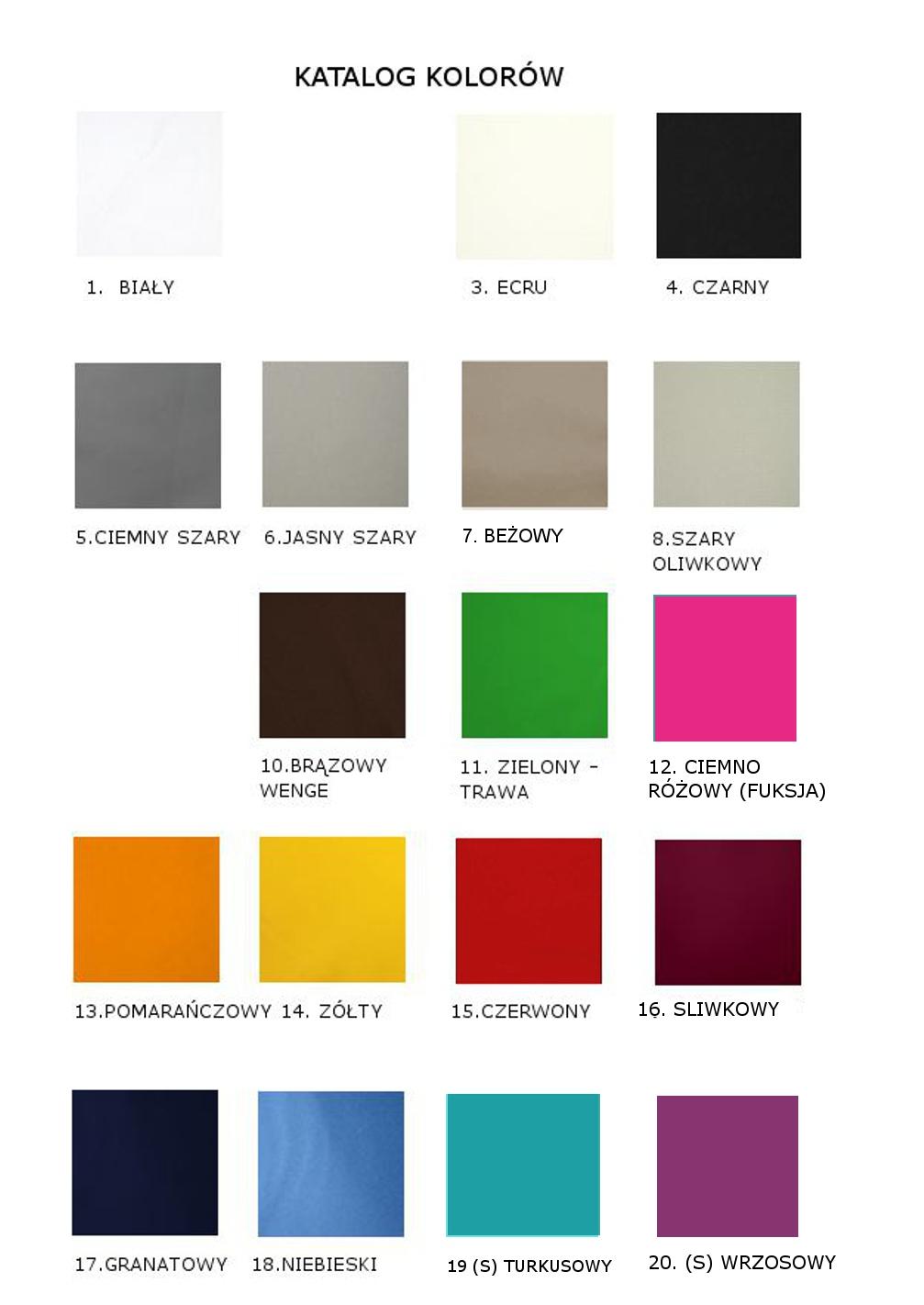 katalog kolorów ażurów
