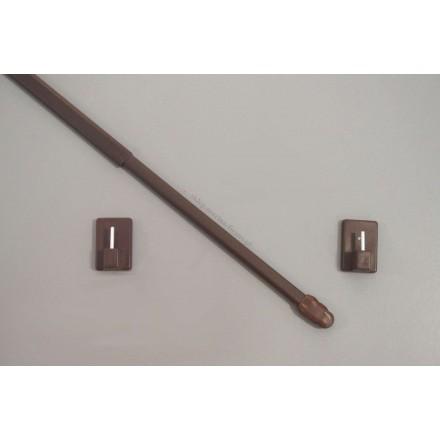 Drążek do zazdrostek brązowy dł. 40 cm - komplet