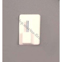 Element samoprzylepny do drążków (zazdrostek) biały - 1 szt