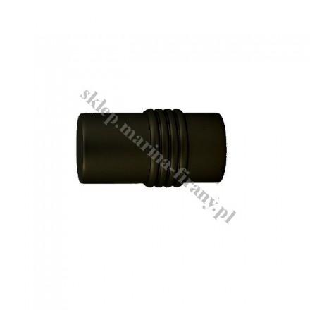Końcówka Gral fi 19 mm czarny matowy - Cylinder (Para)