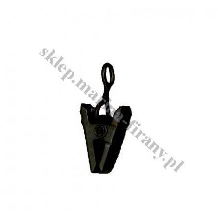 Żabka - klamerka do kółka metalowego Gral - kolor czarny matowy (10 szt)