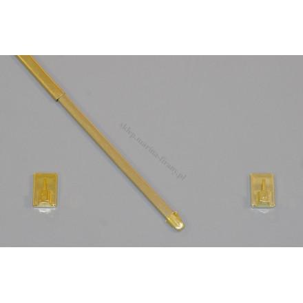 Drążek do zazdrostki mosiądz (złoty) dł. 80 cm - komplet
