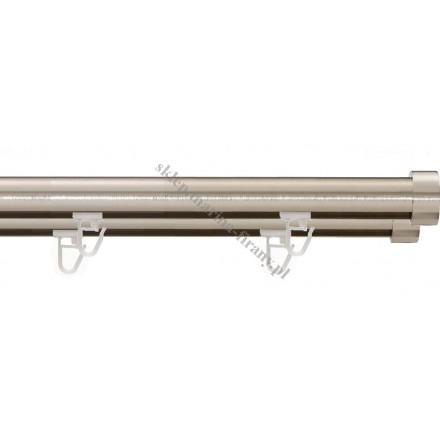 Szyna sufitowa Gral 16 dwutorowa, efekt stali (SUW0011)