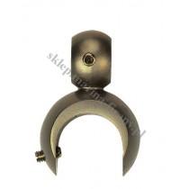 Uchwyt na dodatkową rurę lub szynę fi 16 mm dla wspornika otwartego - kolor antyk