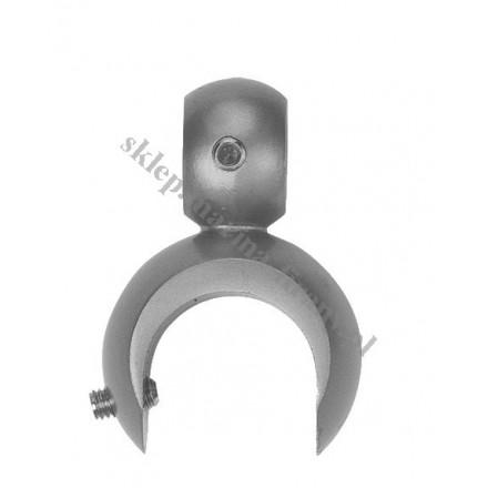 Uchwyt na dodatkową rurę dla wspornika otwartego fi 16, fi19 i fi 25 - kolor efekt stali