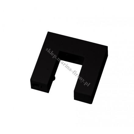Wspornik sufitowy Square Line pojedynczy, kolor czarny połysk