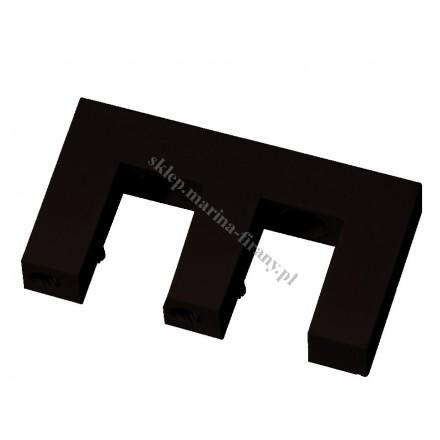 Wspornik sufitowy Square Line podwójny, kolor czarny połysk