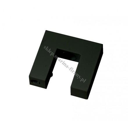 Wspornik sufitowy Square Line pojedynczy, kolor czarny matowy