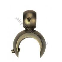 Uchwyt na dodatkową rurę lub szynę fi 19 mm dla wspornika otwartego - kolor antyk
