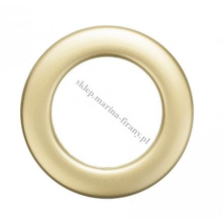 Przelotka KOŁO duża mosiądz - mat - średnica wewnętrzna 35 mm - 10 szt
