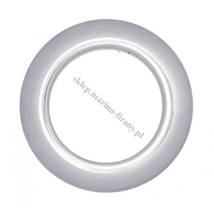 Przelotka KOŁO duża chrom połysk - średnica wewnętrzna 35 mm - 10 szt