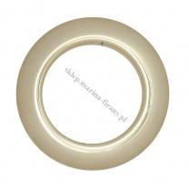 Przelotka KOŁO duża mosiądz połysk - średnica wewnętrzna 35 mm - 10 szt