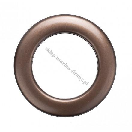 Przelotka KOŁO duża rdza mat - średnica wewnętrzna 35 mm - 10 szt