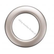 Przelotka KOŁO duża platyna mat- średnica wewnętrzna 35 mm - 10 szt