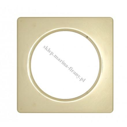 Przelotka KWADRO duża mosiądz połysk - średnica wewnętrzna 35 mm - 10 szt