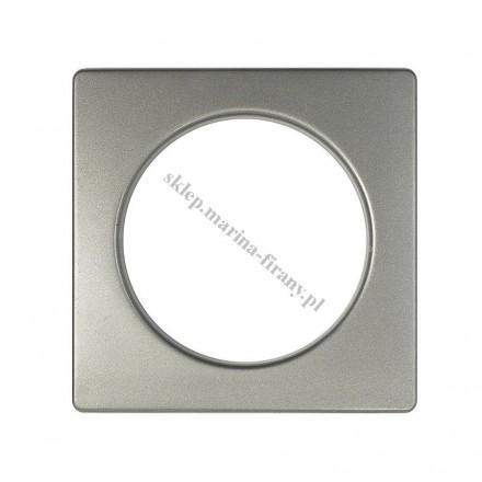Przelotka KWADRO duża grafit mat - średnica wewnętrzna 35 mm - 10 szt