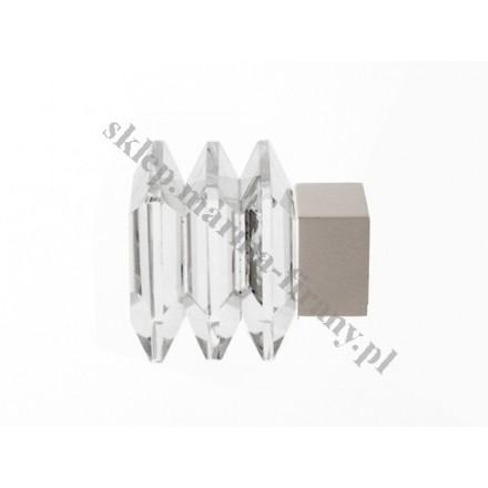 Końcówka Kwadro chrom mat - KWADRO CRYSTAL (Para)